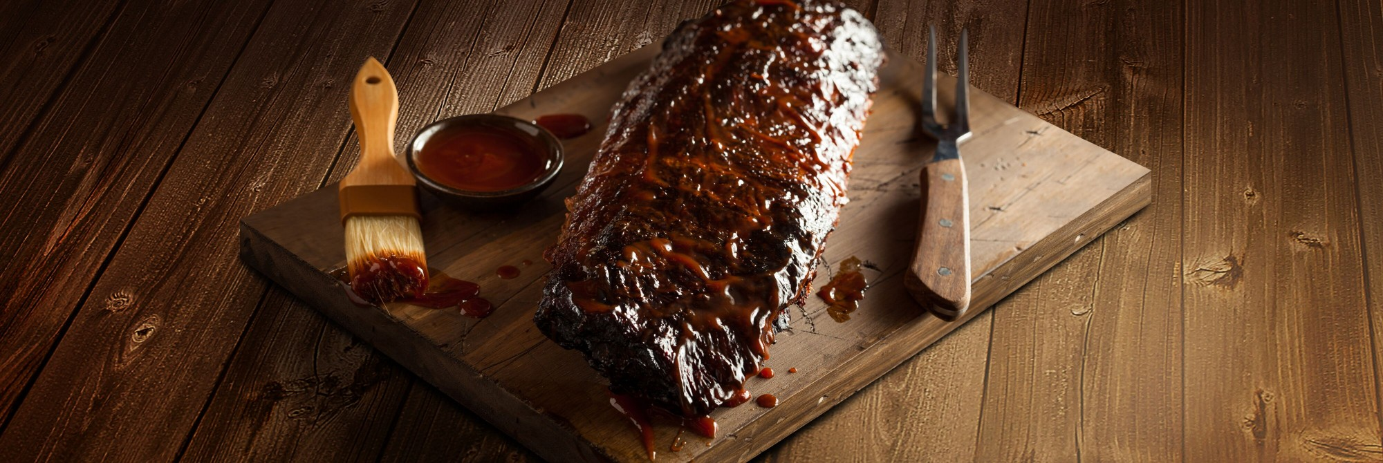 BBQ Sauced Baby Back Ribs