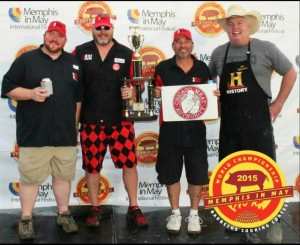 "Memphis in May Winners Josh ""Ham"" Hawkins Jeff Jones ""Jonesy-Q"" Alan Geren Trace Arnold ""The Rib Whisperer"""