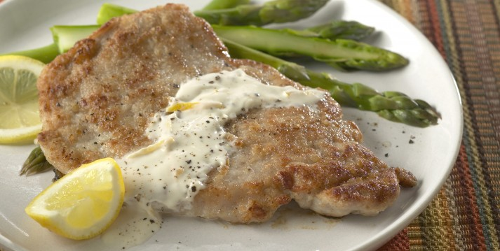 Flat Style Pork Cutlets Cooked