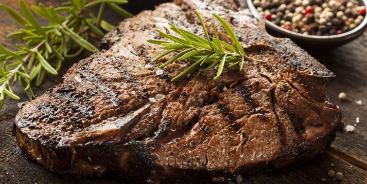 Cooked Porterhouse Steak