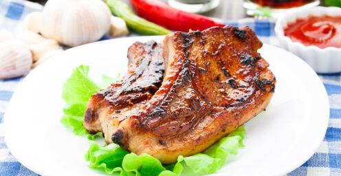 Pork Chop Semi Center Cut Cooked